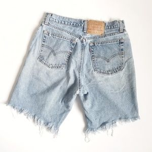 Vintage Levi's Thrashed High Waisted Jean Shorts